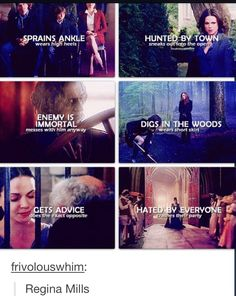 Regina Mills. How do I begin to explain Regina Mills? Regina Mills is flawless. One time she ripped my heart out, it was awesome!
