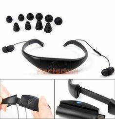 Waterproof Bluetooth Earphone Headphone Diving Swimming Headset for Phone PC Tab
