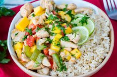 Coconut Mango Chicken for an Exotic Flavor Bursting Dinner Idea! - Clean Food Crush