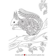 We've created a beautiful coloring page of a cute squirrel. Happy coloring!!