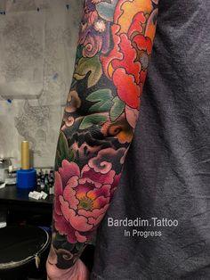 Japanese Lion Dog Tattoo - GEORGE BARDADIM - TATTOO ART NYC