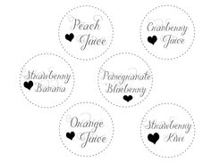 "Free printable 3"" tags for a mimosa bar"