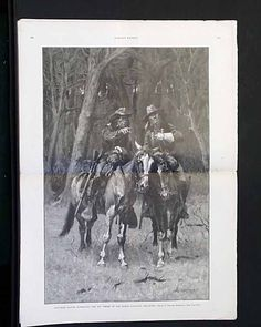 "Harper's Weekly, April 1889 ""Cheyenne Scouts Patrolling the Big Timber, Oklahoma"" ~ Frederick Remington"