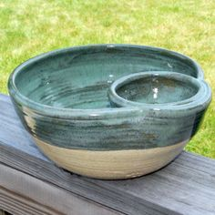 "Chip N"" Dip Bowl stoneware pottery set"