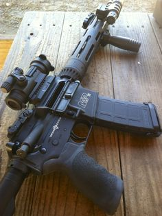 Smith & Wesson VTAC with Viking Tactics gear and Aimpoint PRO optic. A few Magpul accessories to top it off.
