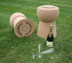 Funny Friday 15... funky champagne cork stools!