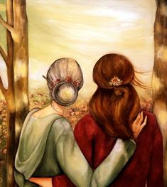 Mother and daughter our walk art print by claudiatremblay on Etsy Claudia Tremblay, Mother And Child, Mother Daughter Art, Oeuvre D'art, Fine Art Paper, Wall Art Decor, Art Drawings, Illustration Art, Sketches