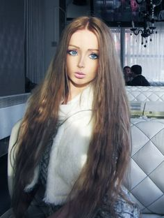 Valeria Lukyanova, a real life-sized Barbie.