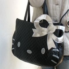 NEW Hello Kitty Head Shaped Tote Shoulder Bag Black sold by Unique Finds. Shop more products from Unique Finds on Storenvy, the home of independent small businesses all over the world. Hello Kitty Handbags, Hello Kitty Purse, Hello Kitty Items, Hot Hands, Baby Friends, Head Shapes, Artificial Leather, Tote Handbags, Diaper Bag