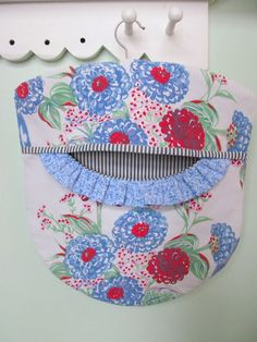 Laundry Day Clothes Pin Bag Jadeite Periwinkle by PerfectPieLady