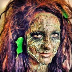 Dryad tree person makeup