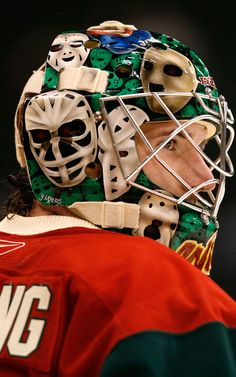When Josh Harding debuted with the Wild, his mask featured old time goalie masks all over. It was a prelude to Harding unveiling some of the more unique mask designs in the NHL.