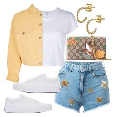 """""""Untitled"""" by whoiselle ❤ liked on Polyvore featuring Chiara Ferragni, RE/DONE, Vans, Topshop and Gucci"""