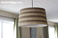 Jute and Sisal Wrapped Drum Shade
