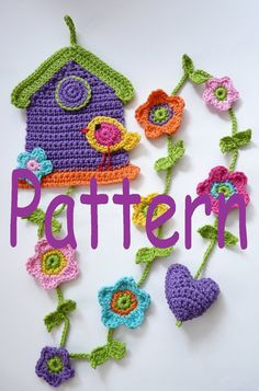 Shop for crochet pattern on Etsy, the place to express your creativity through the buying and selling of handmade and vintage goods. Crochet Home, Love Crochet, Crochet Gifts, Crochet Motif, Diy Crochet, Crochet Flowers, Crochet Patterns, Crochet Bunting, Crochet Garland