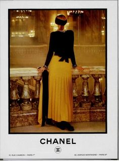 Chanel Vintage ad of the 1980s