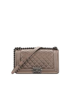 BOY CHANEL handbag, metallic grained calfskin & ruthenium-tone metal-copper - CHANEL