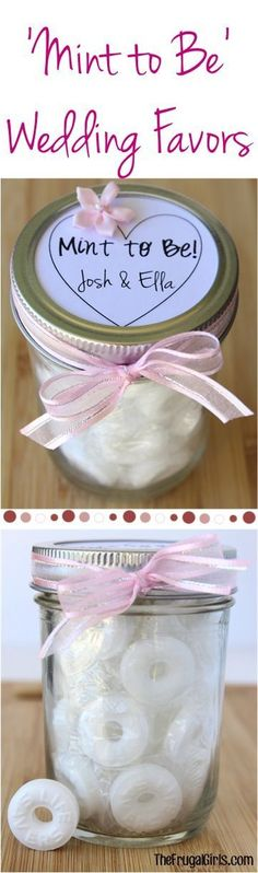 Mint to Be Wedding Favors! ~  at TheFrugalGirls.com ~ this fun DIY Wedding Gift in a Jar makes the perfect little favor for your guests! #favours #ideas #thefrugalgirls
