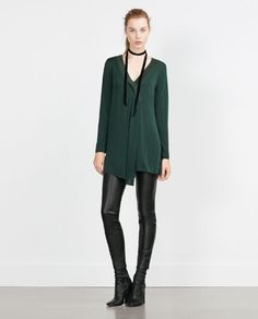 ZARA - WOMAN - TUNIC WITH CENTRAL SLIT