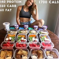 Meal prep clean eating - 1700 CALORIE MEALPREP BY fit I'm sticking to 1700 again this week I'm feeling ok with that but I might add in a snack or two if… Healthy Meals For Two, Healthy Meal Prep, Healthy Snacks, Healthy Eating, Healthy Recipes, High Protein Meal Prep, Clean Eating, High Protein Recipes, Low Calorie Recipes