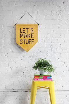 DIY Hanging Wall Banner