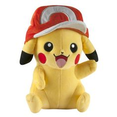 Tomy Pokemon 10 inch Stuffed Figure - Pikachu with Ash's Hat