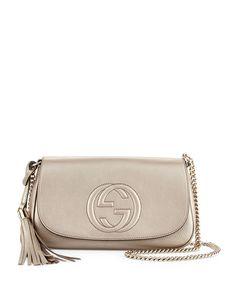 Gucci Soho Metallic Crossbody Bag, Gold, Newgold
