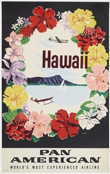 Vintage travel poster Hawaii
