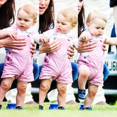 Prince George at Prince William's polo match with the Duchess of Cambridge on Father's Day