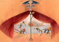 Eva Montanari Illustration - eva montanari, acrylic, paint, painted, trade, picture book, picturebook, people, theatre, stages