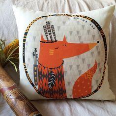 индеец лиса подушка