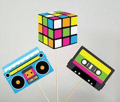 Resultado de imagen para decoracion fiesta años 80