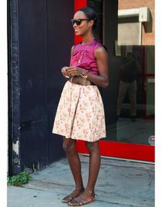 shala monroque in fuchsia