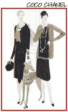 artdeco.quenalbertini: 1927 Coco Chanel Vogue Cover