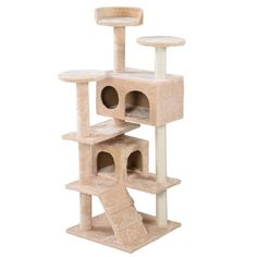 New Cat Tree Tower Condo Furniture Scratch Post Kitty Pet House Play Beige Toy Cat Kitten House High Quality Cat Supplies Furniture & Scratchers Pet Supplies Cat Supplies Beds Cat Tree House, Cat Tree Condo, Cat Condo, Kitty House, Furniture Scratches, Cat Activity, Condo Furniture, Cat Towers, Cat Scratching Post