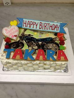 バイクのケーキ Birthday Cake, Happy, Desserts, Food, Tailgate Desserts, Deserts, Birthday Cakes, Essen, Ser Feliz