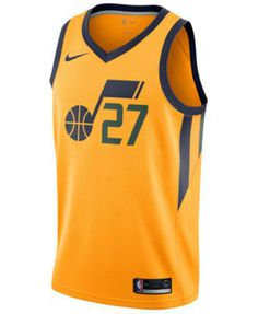 9daeaa67c Nike Men s Rudy Gobert Utah Jazz City Swingman Jersey - Yellow M Jersey  Designs