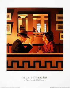 Jack Vettriano - Man in the Mirror