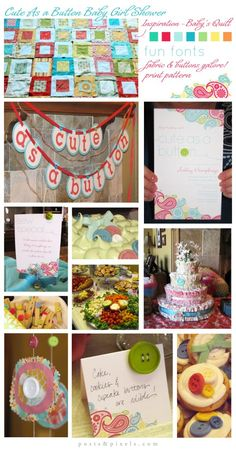Design & Decor for Cute as a Button Baby shower. Ahh how cute is this????