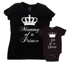 Mother And Son Matching Outfits Mommy And Me Clothing Mother Son Matching Shirts Mommy Of A Prince Son Of A Queen Bodysuit - SA625-626 by CherryTees on Etsy https://www.etsy.com/listing/293001053/mother-and-son-matching-outfits-mommy