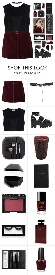 """ Reckless behavior. "" by centurythe ❤ liked on Polyvore featuring MANGO, Ava Catherside, Windsor Smith, Pier 1 Imports, Smythson, NARS Cosmetics, Chanel, Inglot, Dolce & Gabbana Fragrance and Sephora Collection"