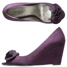 purple wedding shoes - I could actually walk in these!