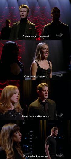 KLAINE, BRITTANA, FINCHEL, all broke up, while Will and and Emma were in a big argument but didn't break up or call off their wedding.