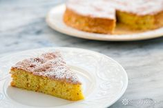 A gluten-free, light and airy lemon cake make with almond flour, eggs, and sugar. Perfect for a holiday dessert!