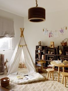 Having an area where kids can hide away and do their own thing will help with their imaginative play but also if they invite you in, it makes it a special place to help them develop language and communication skills as you could chat and ready together. #DKLdreamplayroom playroom-design-indian-style