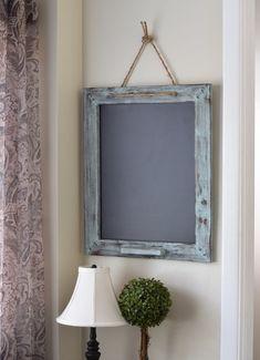 Distressed Blue Gray Chalk Marker Board 20x24, Kitchen Menu Chalkboard, Home Decor, Mud Room, Business Organizer, Entryway Ideas