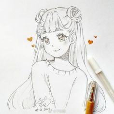 No, I choose to believe. That what I was made to become A sanctuarity 🌌 . Girly Drawings, Art Drawings Sketches Simple, Pencil Art Drawings, Drawings Of Friends, Anime Character Drawing, Cartoon Art Styles, Anime Sketch, Anime Kawaii, Anime Art Girl