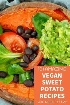 Need vegan sweet potato recipes? We've searched dozens of food blogger sites to get their take on what a vegan sweet potato meal can look like. Come get 101 different ideas! Best Vegan Sweet Potato Recipes | Healthy Sweet Potato Recipes | Vegan Diet Recipes | → VegByte.com | #vegansweetpotatorecipes #bestsweetpotatorecipes #veganfoodrecipes