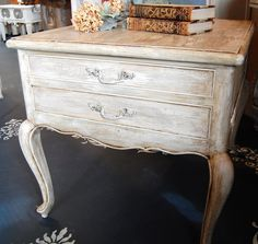 Annie Sloan chalk paint - for crib/changing table - country grey & old white