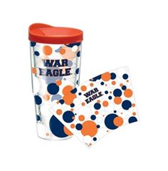 24 oz-Dots Auburn University Tervis Tumbler